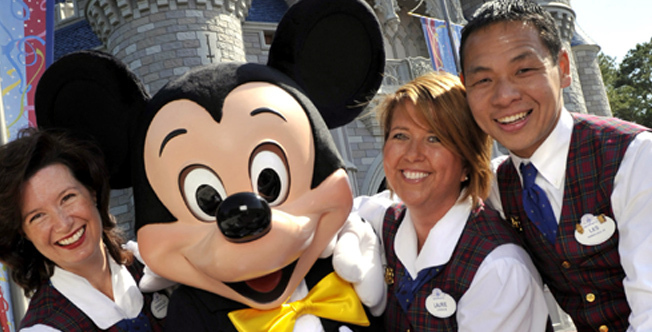 Workers in Disney Mickey