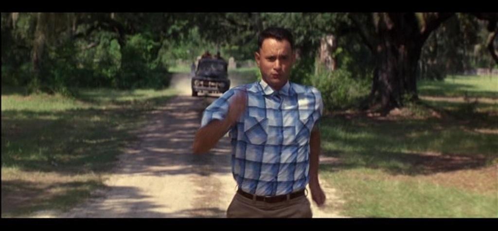 Forrest Gump running movie